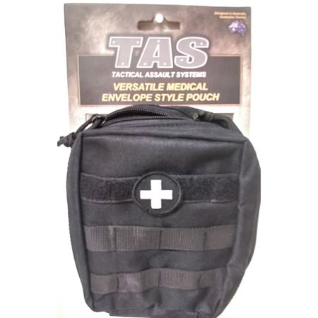 Medical Envelope Style Military Molle Pouch Removable Med Cross Patch 900D
