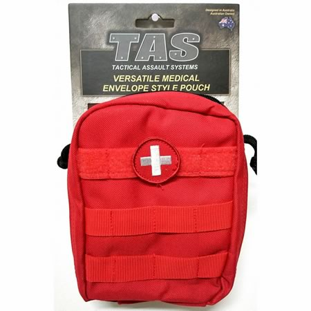 5286 Medical Pouch Envelope Style Molle Removable Cross Patch 900D EMT