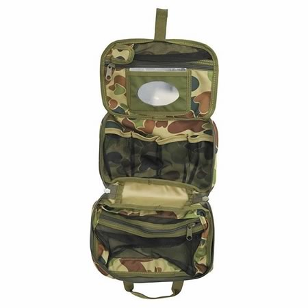 Toiletries Bag - Auscam, Multicam, Khaki and Black