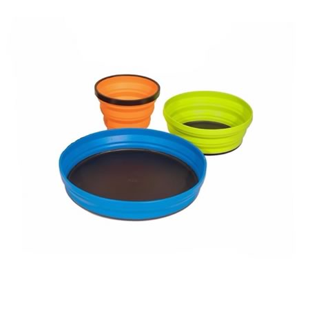 X-Set 3 Full Set Mug, Bowl, Plate and Pouch