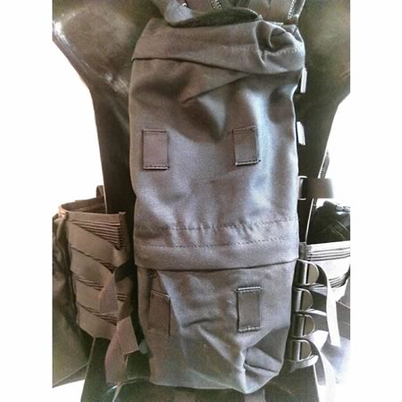 TAS M83 Assault Vest Black 900D Double Waterproof with Nylon Webbing and Buckles