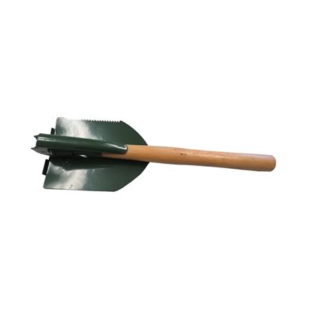 Folding Shovel with Wooden Handle