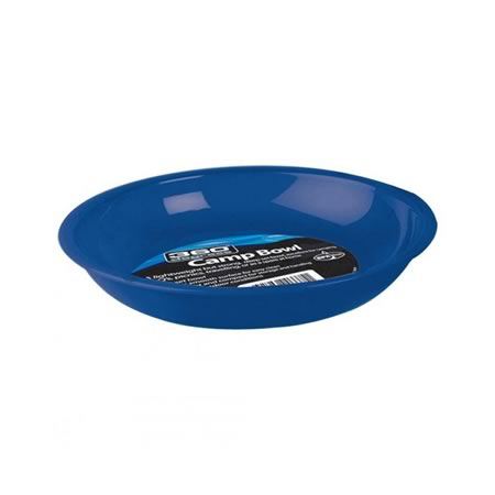 Plastic Camp Bowl Blue