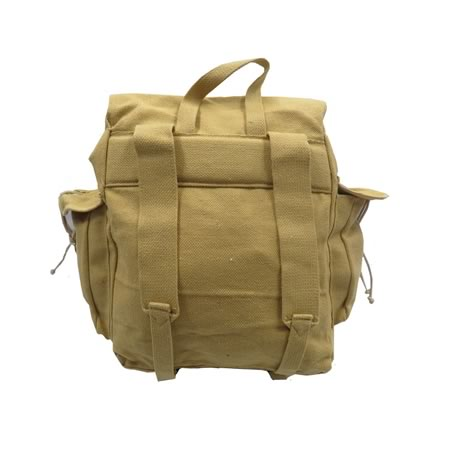 Canvas Webbing Backpack