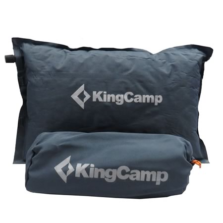 Self Inflating Pillow Grey with Bag
