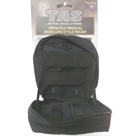 TAS Medical Envelope Style Military Molle Pouch Removable Med Cross Patch 900D