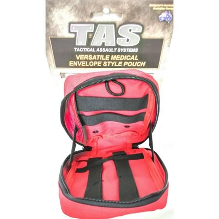 TAS 5286 Medical Pouch Envelope Style Molle Removable Cross Patch 900D EMT
