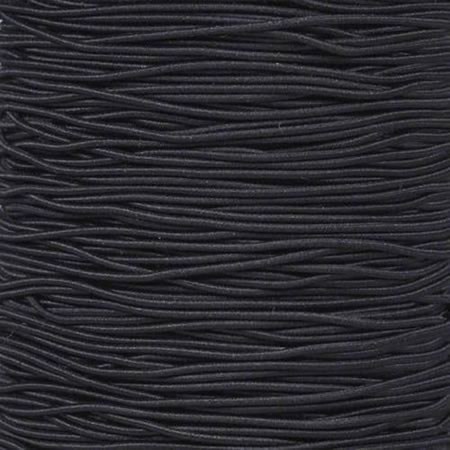 2mm Solid Black Shock Bungee Cord Per metre