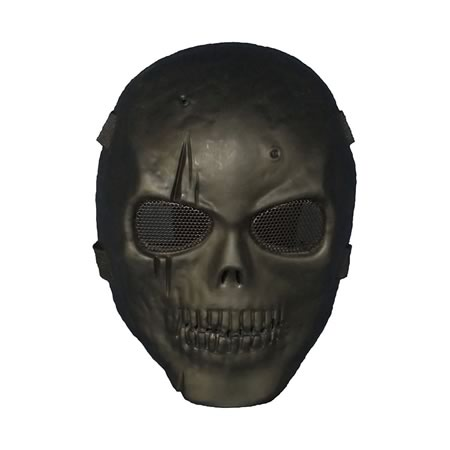Skeleton Full Face Ghost Mask - Black