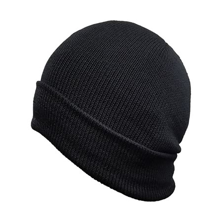 100% Pure Wool Beanie Black
