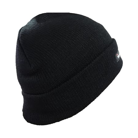 Acrylic Black Beanie with 3M Thinsulate Lining