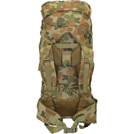 TAS 1301 Auscam DPCU 60L Military Backpack Molle 900D Padded Ladder Harness