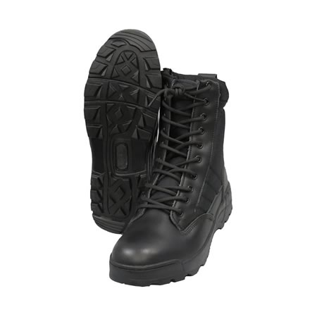 Sentry Security Black Boot Side Zip