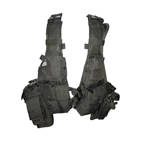 M83 Assault Vest Black 900D Double Waterproof with Nylon Webbing and Buckles