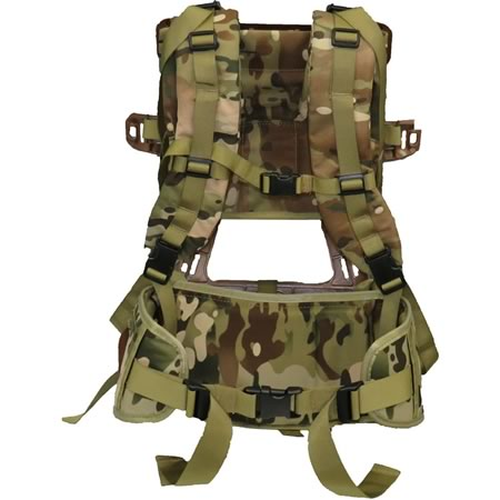 TAS Alice Composite Frame with Yoke Harness and Deluxe Hip Belt Multicam Combo