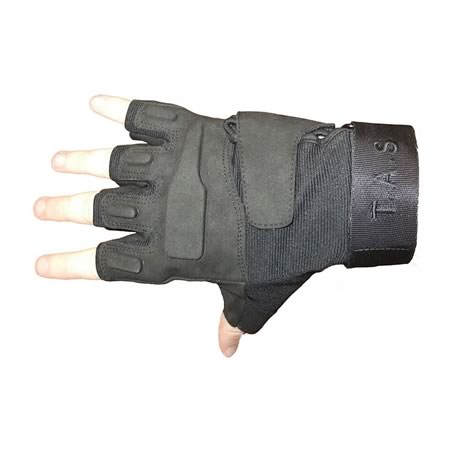 Black Fingerless Tactical Gloves