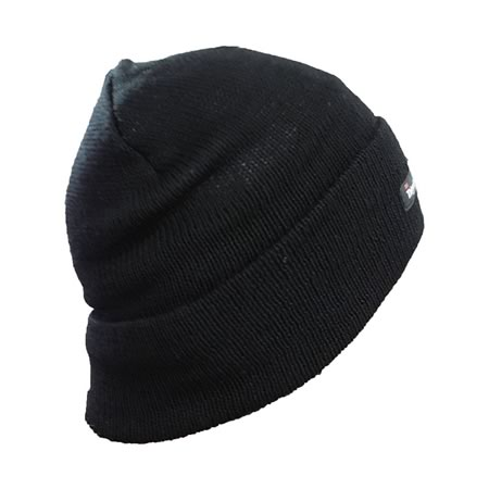 Black Pure Wool Beanie with 3M Thinsulate