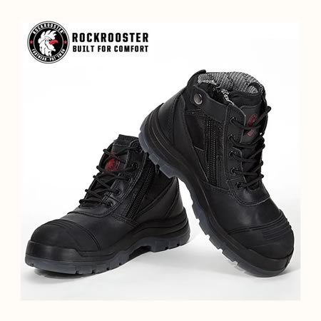 Crison Safety Work Boots Black